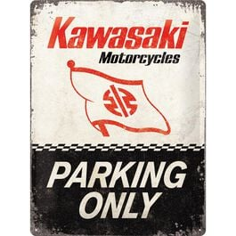 """Blechschild 30 x 40 """"Kawasaki - Parking Only"""""""