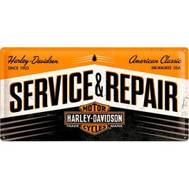 "Blechschild 25 x 50 ""Harley Davidson Service & Repair"""