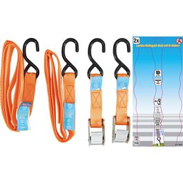 hook strap pair 25mm with brake 180daN (175 Kg) 2 meters