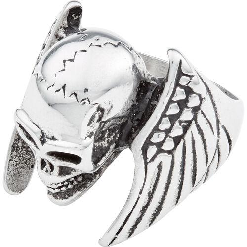 "Edelstahlring ""Winged Skull"" silber"