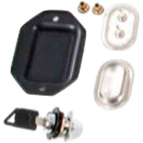 lock set for topcover of one leather saddelbag