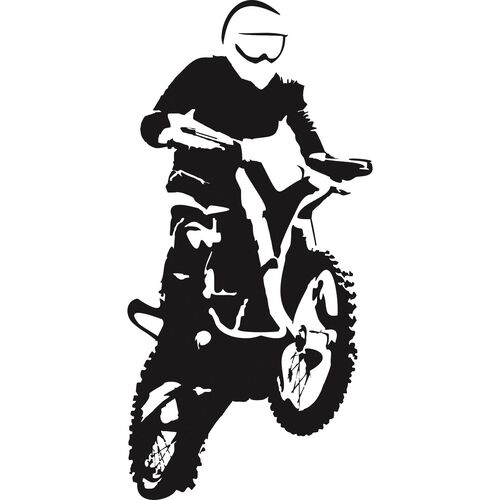 Aufkleber Motocross 4 x 8 cm