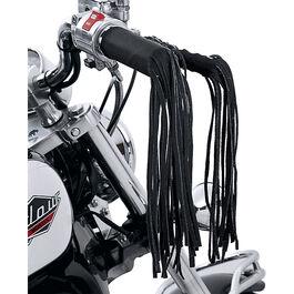 Handlebar grip and steering levers fringe set