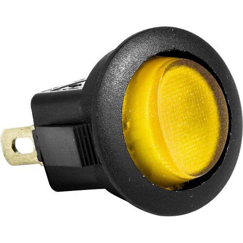 Einbauschalter An/Aus Ø20mm gelb beleuchtet