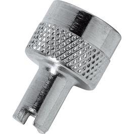 Schlüsselventilkappe DIN 7757 mit Ventilausdreher