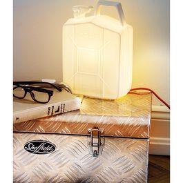 Jerrycan / Porzellan Lampe Kanister anthrazit