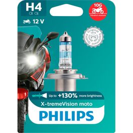 H4 Glühbirne X-tremeVision Moto +130% 12V 60/55W P43T