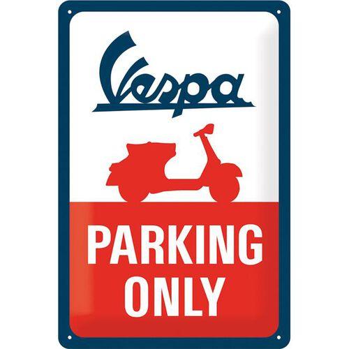 """Blechschild 20 x 30 """"Vespa - Parking Only"""""""