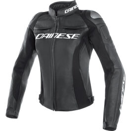 Racing 3 Lady Leather Jacket perforated