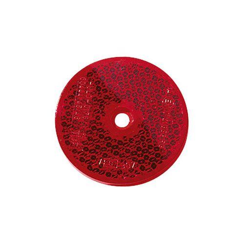 reflector red round (60 mm) screwed