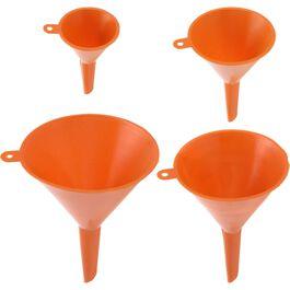 Trichter-Set 4-teilig Ø50-115mm orange