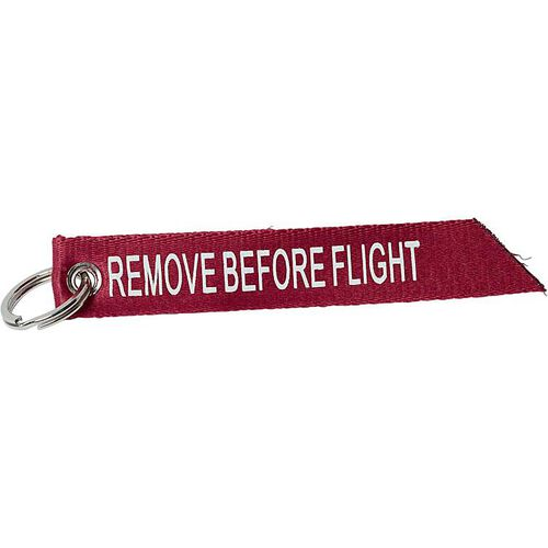 "Schlüsselanhänger ""Remove before flight"""