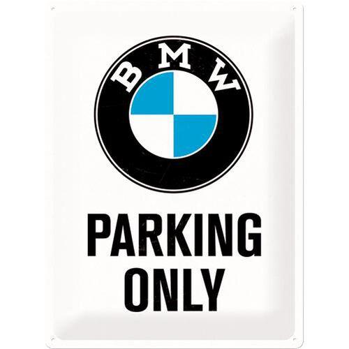 """Blechschild 30 x 40 """"BMW - Parking Only"""""""