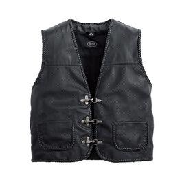 Perforé veste en cuir 1.0