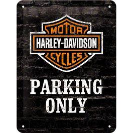 "Metal Postcard 15 x 20 ""Harley-Davidson Parking Only"""