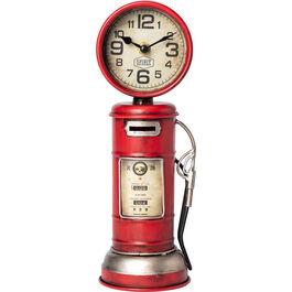 Money box petrol pump retro with clock